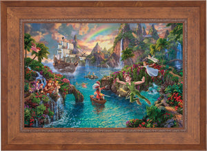Peter Pan's Never Land - Limited Edition Canvas (JE - Jewel Edition) - ArtOfEntertainment.com