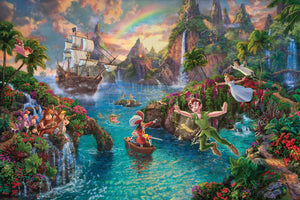 Peter Pan's Never Land - Limited Edition Canvas - JE - (Unframed)
