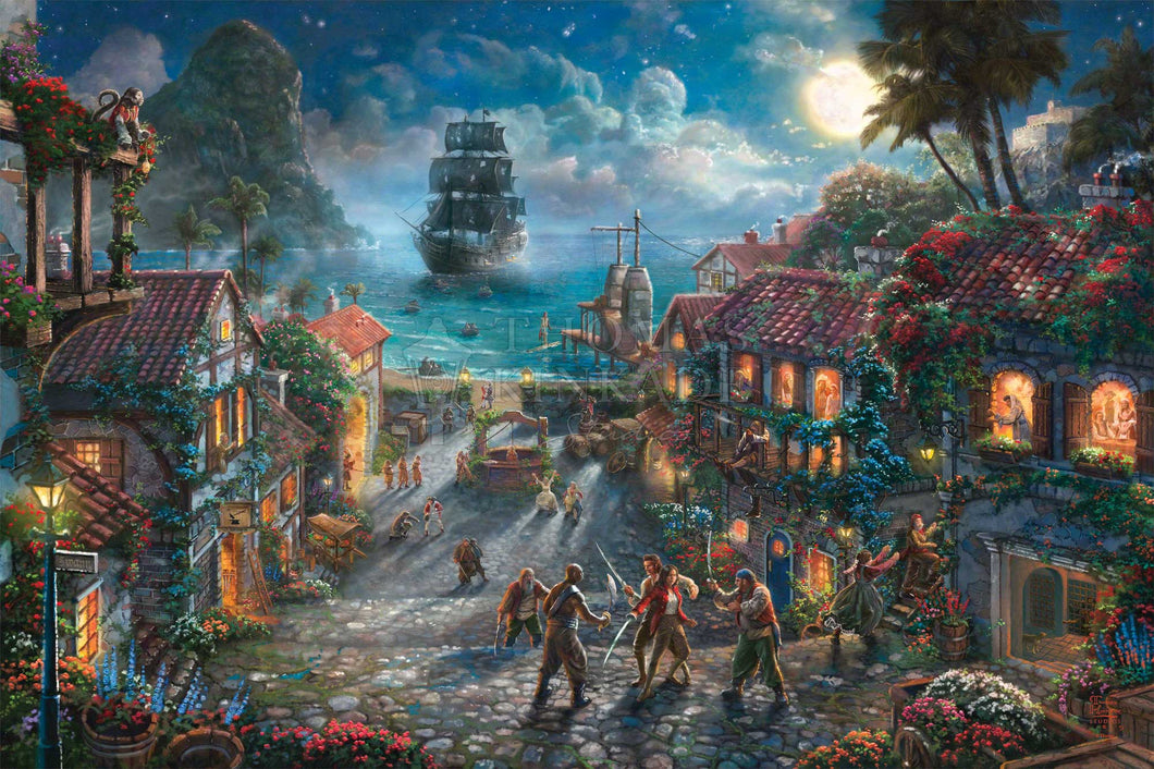 Pirates of the Caribbean - Limited Edition Canvas - JE - (Unframed)
