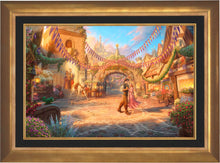 Load image into Gallery viewer, Rapunzel Dancing in the Sunlit Courtyard - Limited Edition Canvas (JE - Jewel Edition) - ArtOfEntertainment.com