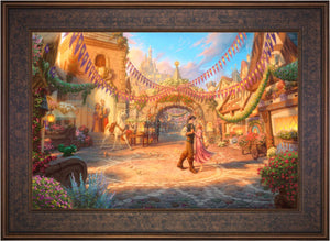 Rapunzel Dancing in the Sunlit Courtyard - Limited Edition Canvas (SN - Standard Numbered) - ArtOfEntertainment.com