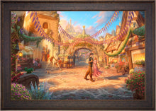 Load image into Gallery viewer, Rapunzel Dancing in the Sunlit Courtyard - Limited Edition Canvas (SN - Standard Numbered) - ArtOfEntertainment.com