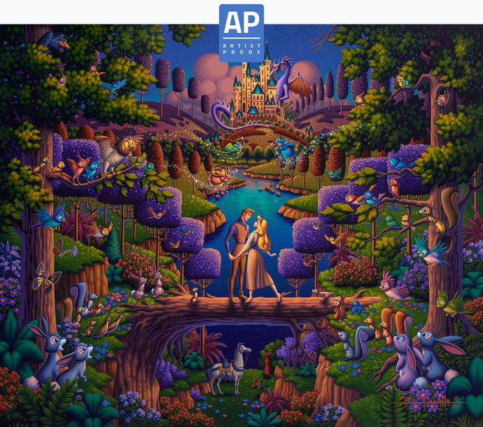 Sleeping Beauty - The Power of Love - Limited Edition Canvas (AP - Artist Proof) - ArtOfEntertainment.com