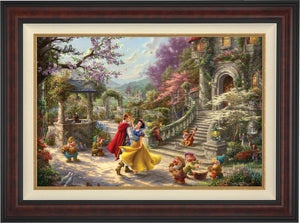 Snow White Dancing in the Sunlight - Limited Edition Canvas (JE - Jewel Edition) - ArtOfEntertainment.com