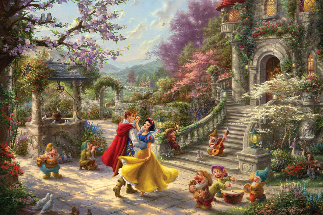 Snow White Dancing in the Sunlight - Limited Edition Canvas - SN - (Unframed)