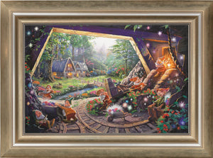Snow White and the Seven Dwarfs - Limited Edition Canvas (JE - Jewel Edition) - ArtOfEntertainment.com