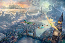 Load image into Gallery viewer, Tinker Bell and Peter Pan Fly to Neverland - Limited Edition Canvas - SN - (Unframed)