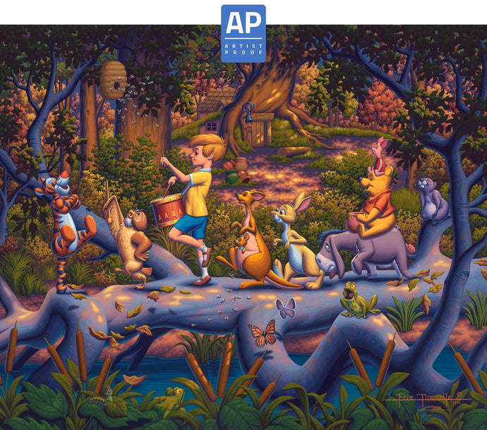 Winnie the Pooh - A Heroes Parade - Limited Edition Canvas (AP - Artist Proof) - ArtOfEntertainment.com