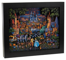 "Load image into Gallery viewer, Cinderella's Enchanted Evening - 13"" x 16"" Stratascape"
