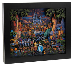 "Cinderella's Enchanted Evening - 13"" x 16"" Stratascape"