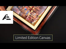 Load and play video in Gallery viewer, Mickey and Minnie - Sweetheart Bridge - Limited Edition Canvas (JE - Jewel Edition)