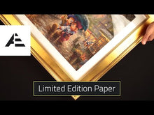 Load and play video in Gallery viewer, Mickey and Minnie - Sweetheart Bridge - Limited Edition Paper (SN - Standard Numbered)