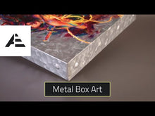 "Load and play video in Gallery viewer, The Duel: Rey vs. Ren - 14"" x 14"" Metal Box Art"
