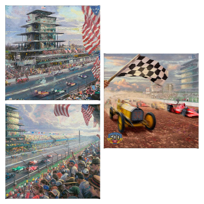 Indy 500 (Set of 3) - 14 x 14 Gallery Wrapped Canvas - 14