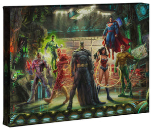 The Justice League - Gallery Wrapped Canvas - ArtOfEntertainment.com