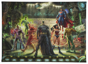 Gallery Wrapped Canvas The Justice League
