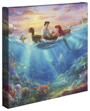 Load image into Gallery viewer, Little Mermaid Falling in Love - Gallery Wrapped Canvas