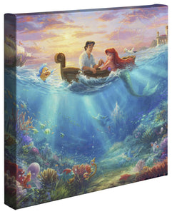 Little Mermaid Falling in Love - Gallery Wrapped Canvas