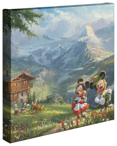 Mickey and Minnie in the Alps - Gallery Wrapped Canvas