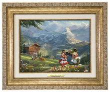 Load image into Gallery viewer, Mickey and Minnie in the Alps - Canvas Classics