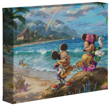 Load image into Gallery viewer, Mickey and Minnie in Hawaii - Gallery Wrapped Canvas