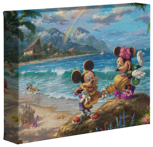 Mickey and Minnie in Hawaii - Gallery Wrapped Canvas