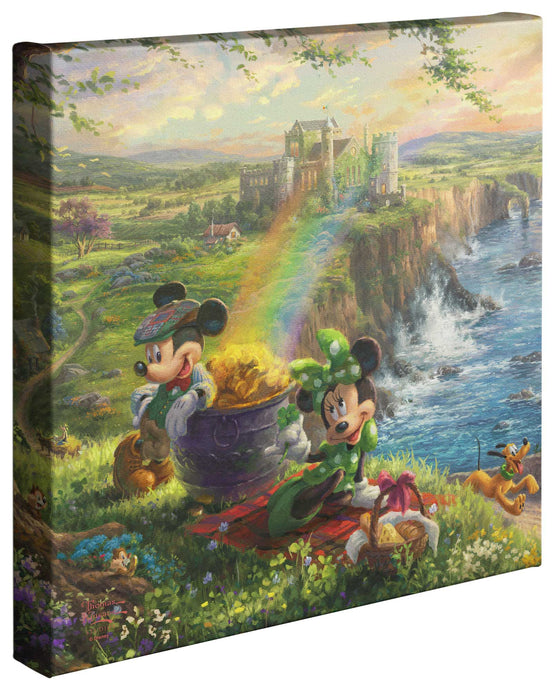 Mickey and Minnie in Ireland - Gallery Wrapped Canvas