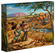 Load image into Gallery viewer, Mickey and Minnie in the Outback - Gallery Wrapped Canvas
