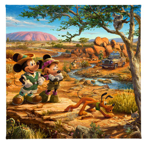 Mickey and Minnie in the Outback - Gallery Wrapped Canvas