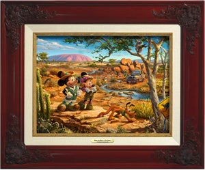 Mickey And Minnie In The Outback - Canvas Classics