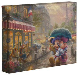 Mickey and Minnie in Paris - Gallery Wrapped Canvas