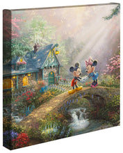 "Load image into Gallery viewer, Mickey & Minnie Sweetheart Bridge - 14"" x 14"" Gallery Wrapped Canvas 69445"