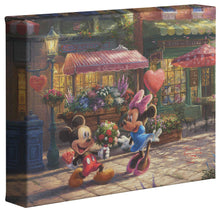 Load image into Gallery viewer, Mickey & Minnie Sweetheart Café - Gallery Wrapped Canvas - ArtOfEntertainment.com