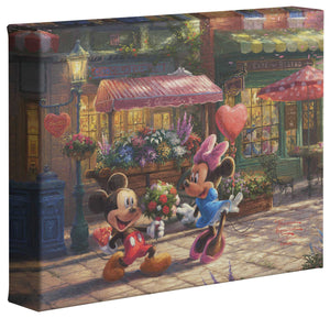 Mickey & Minnie Sweetheart Café - Gallery Wrapped Canvas - ArtOfEntertainment.com