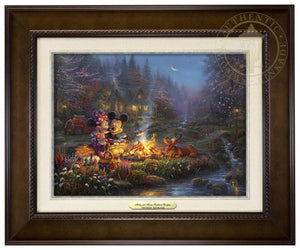 Mickey and Minnie - Sweetheart Campfire - Canvas Classics
