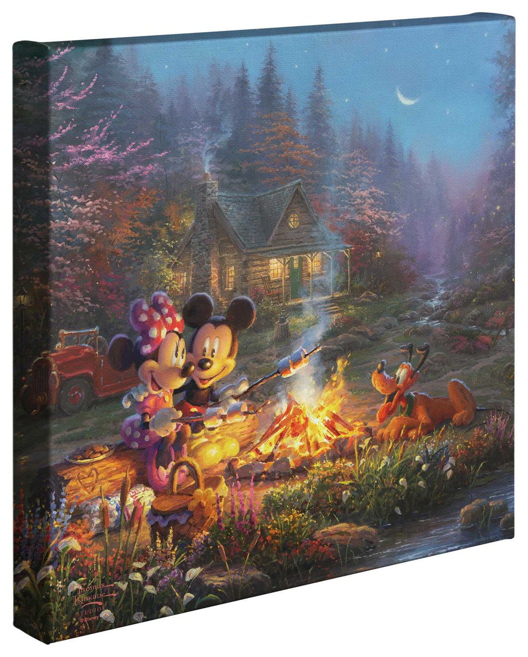Mickey and Minnie - Sweetheart Campfire - Gallery Wrapped Canvas