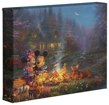 Load image into Gallery viewer, Mickey and Minnie - Sweetheart Campfire - Gallery Wrapped Canvas