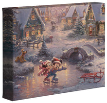 Load image into Gallery viewer, Mickey & Minnie Sweetheart Holiday - Gallery Wrapped Canvas