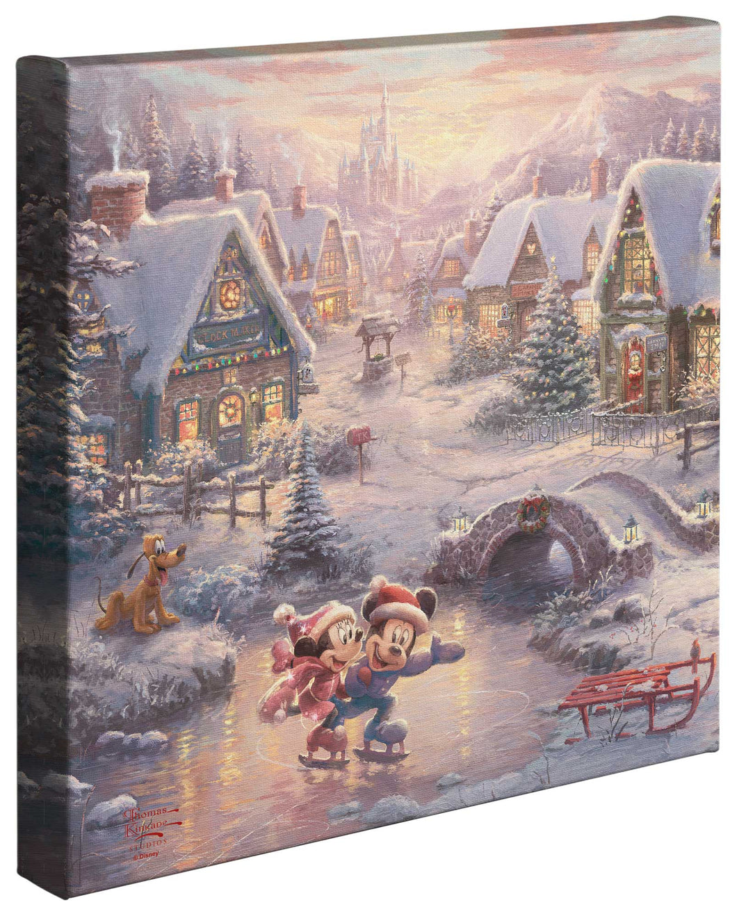 Mickey & Minnie Sweetheart Holiday - Gallery Wrapped Canvas