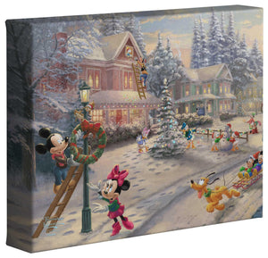 Mickey's Victorian Christmas - Gallery Wrapped Canvas - ArtOfEntertainment.com