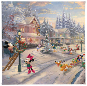 Gallery Wrapped Canvas Mickey's Victorian Christmas