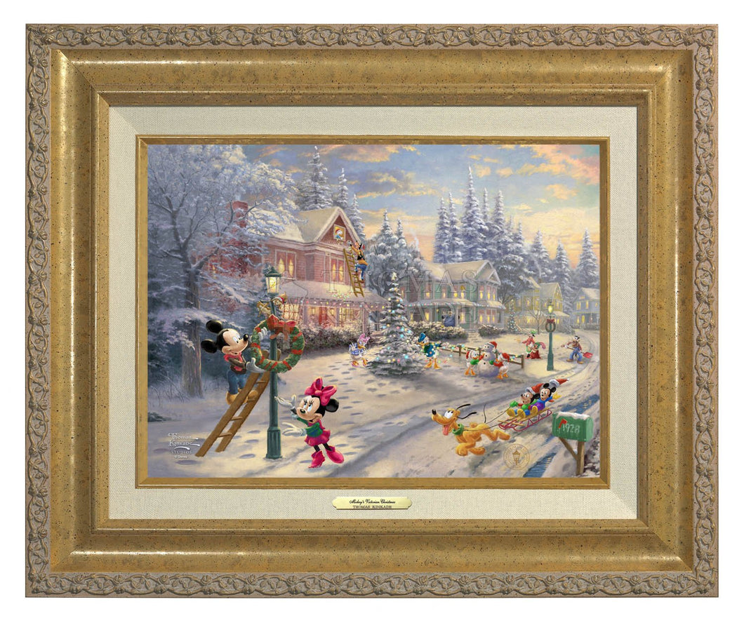 Mickey's Victorian Christmas - Canvas Classics