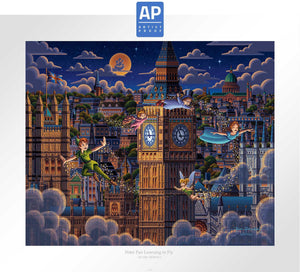 Peter Pan Learning to Fly - Limited Edition Paper (AP - Artist Proof)
