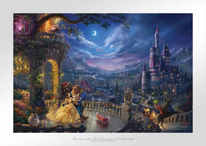 Beauty and the Beast Dancing in the Moonlight - Limited Edition Paper - SN - (Unframed)