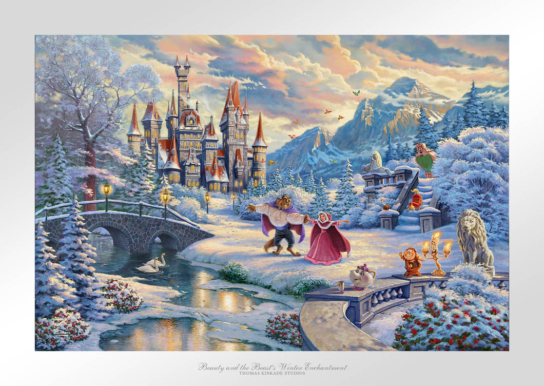 Beauty and the Beast's Winter Enchantment - Limited Edition Paper - SN - (Unframed)