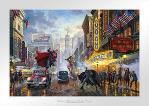 Batman, Superman, Wonder Woman - Limited Edition Paper - SN - (Unframed)