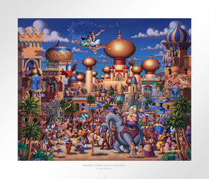 Aladdin - Celebration in Agrabah - Limited Edition Paper - AP - (Unframed)