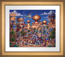Load image into Gallery viewer, Aladdin - Celebration in Agrabah - Limited Edition Paper (SN - Standard Numbered)