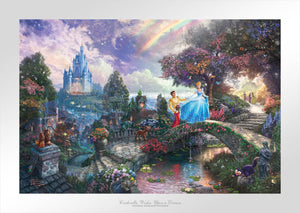 Cinderella Wishes Upon a Dream - Limited Edition Paper - SN - (Unframed)