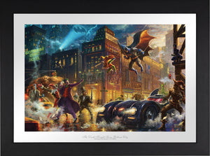 The Dark Knight Saves Gotham City - Limited Edition Paper (SN - Standard Numbered) - ArtOfEntertainment.com
